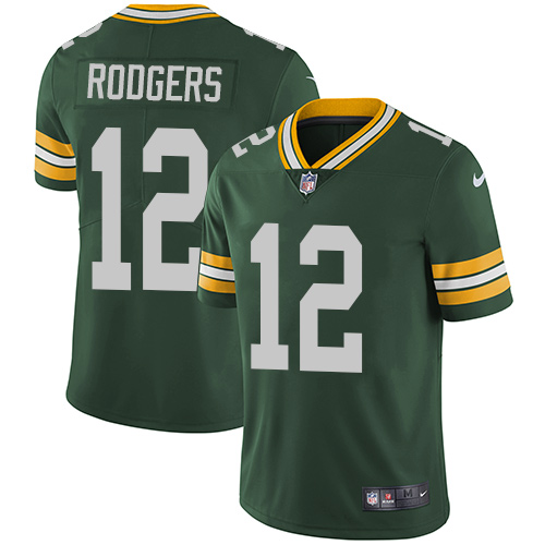 Nike Green Bay Packers #12 Aaron Rodgers Green Team Color Men's Stitched NFL Vapor Untouchable Limited Jersey