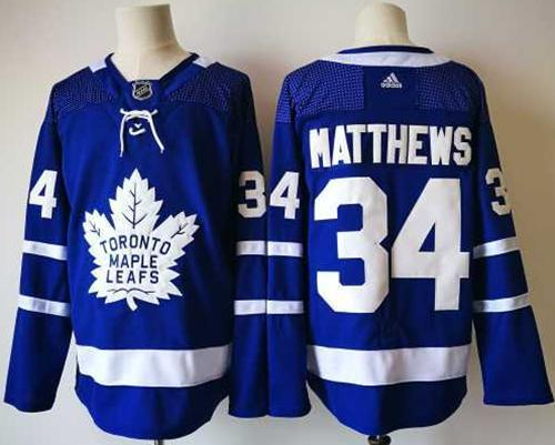Adidas Toronto Maple Leafs #34 Auston Matthews Blue Home Authentic Stitched NHL Jersey