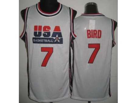 USA Basketball 1992 Olympic Dream Team #7 Larry Bird White Jerseys
