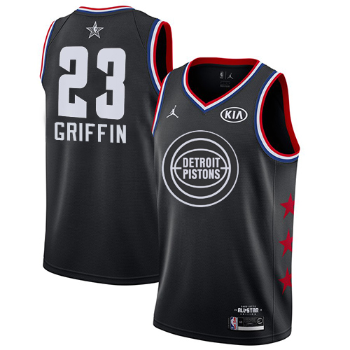 Men's Nike Detroit Pistons #23 Blake Griffin Black NBA Jordan Swingman 2019 All-Star Game Jersey