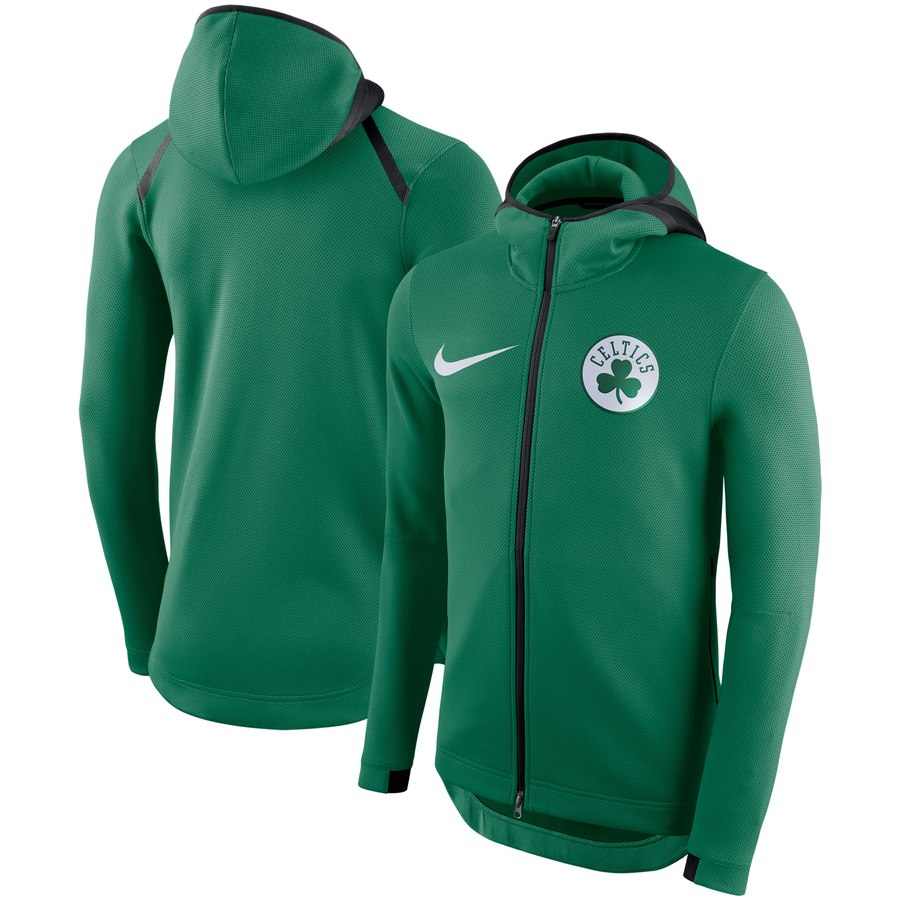 Men's Boston Celtics Nike Showtime Therma Flex Performance Full-Zip Hoodie Kelly Green