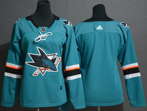 Women's Adidas San Jose Sharks Customzied Teal Home Authentic Stitched NHL Jersey