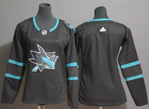 Youth Adidas San Jose Sharks Customzied Black Alternate Authentic Stitched NHL Jersey
