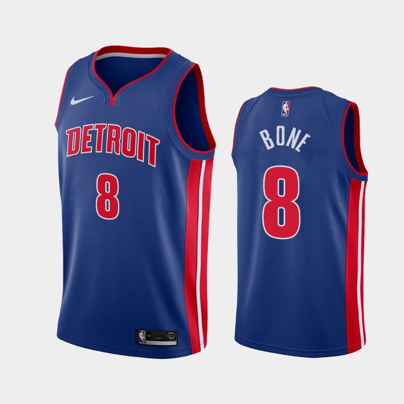 Men's Nike Detroit Pistons #8 Jordan Bone Blue NBA Swingman Icon Edition 2019 Draft Jersey