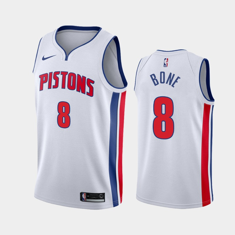 Men's Nike Detroit Pistons #8 Jordan Bone White NBA Swingman Association Edition 2019 Draft Jersey