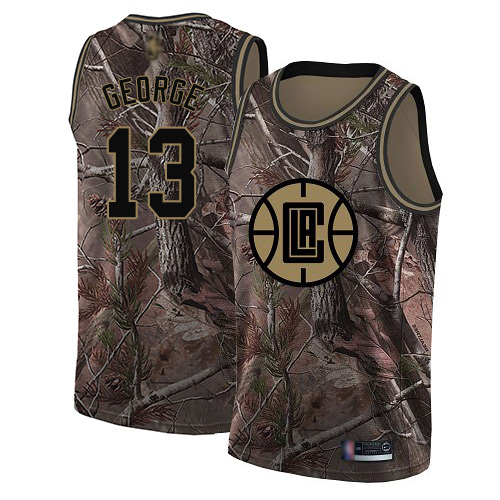 Men's Nike Los Angeles Clippers #13 Paul George Camo NBA Swingman Realtree Collection Jersey
