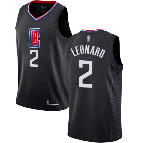 Youth Nike Los Angeles Clippers #2 Kawhi Leonard Black NBA Swingman Statement Edition Jersey