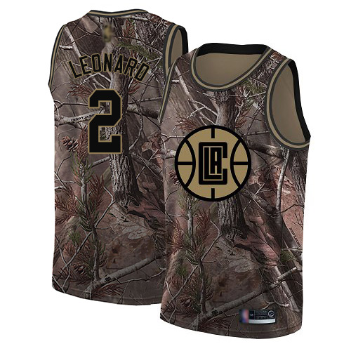 Youth Nike Los Angeles Clippers #2 Kawhi Leonard Camo NBA Swingman Realtree Collection Jersey