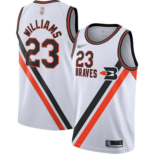 Men's Nike Los Angeles Clippers #23 Louis Williams White Basketball Swingman Hardwood Classics Jersey