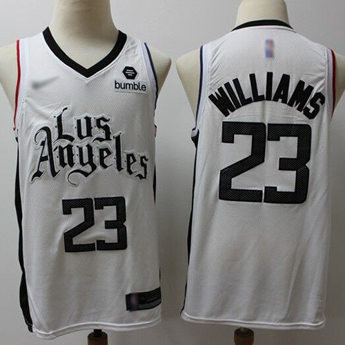 Men's Nike Los Angeles Clippers #23 Louis Williams White NBA Swingman City Edition 2019-2020 Jersey