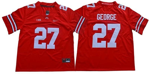 Ohio State Buckeyes #27 Eddie George Red Stitched NCAA Jersey