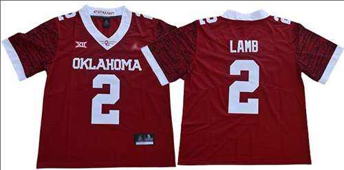 Oklahoma Sooners #2 CeeDee Lamb Red Jordan Brand Limited New XII Stitched NCAA Jersey