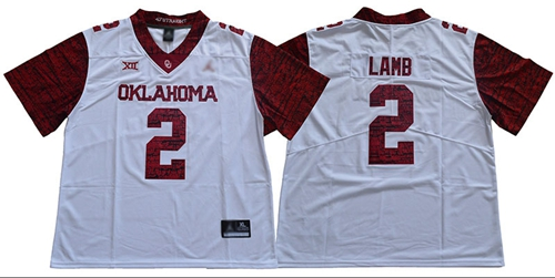 Oklahoma Sooners #2 CeeDee Lamb White Jordan Brand Limited New XII Stitched NCAA Jersey