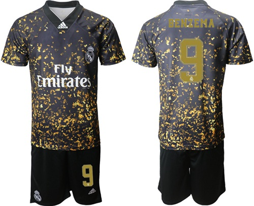 Real Madrid #9 Benzema Camo Soccer Club Jersey