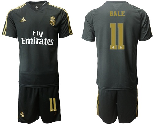 Real Madrid #11 Bale Black Training Soccer Club Jersey
