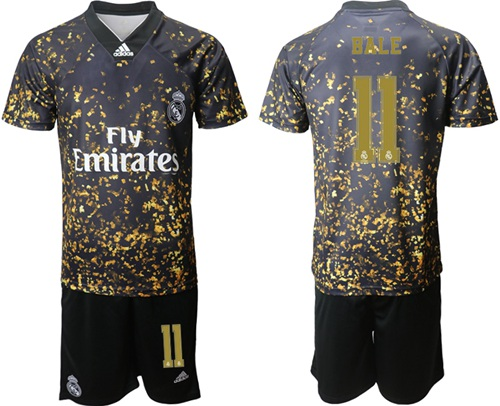Real Madrid #11 Bale Camo Soccer Club Jersey