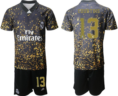 Real Madrid #13 Courtois Camo Soccer Club Jersey