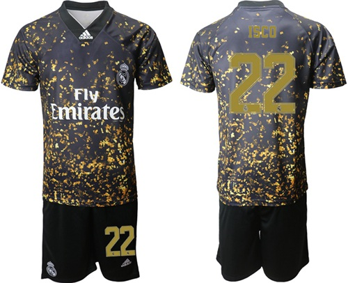 Real Madrid #22 Isco Camo Soccer Club Jersey
