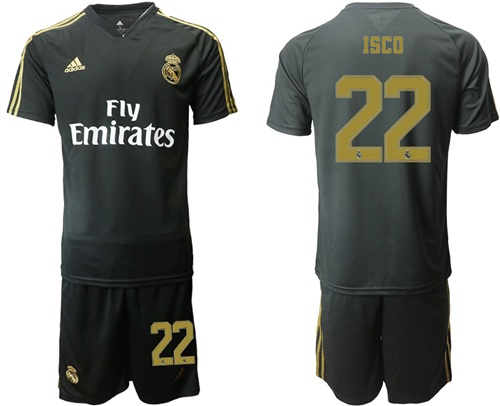 Real Madrid #22 Isco Black Training Soccer Club Jersey