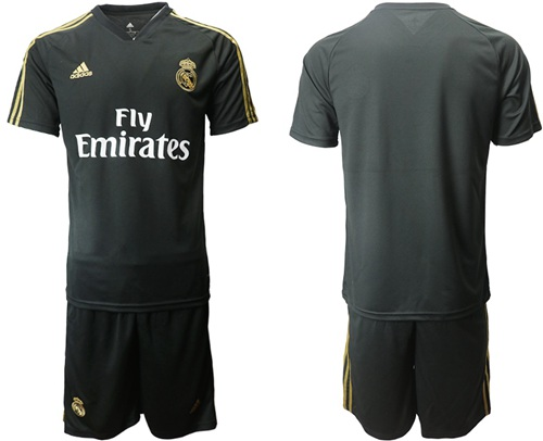 Real Madrid Blank Black Training Soccer Club Jersey