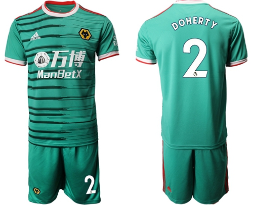 Wolves #2 Doherty Third Soccer Club Jersey