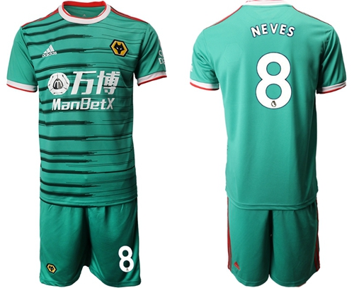 Wolves #8 Neves Third Soccer Club Jersey