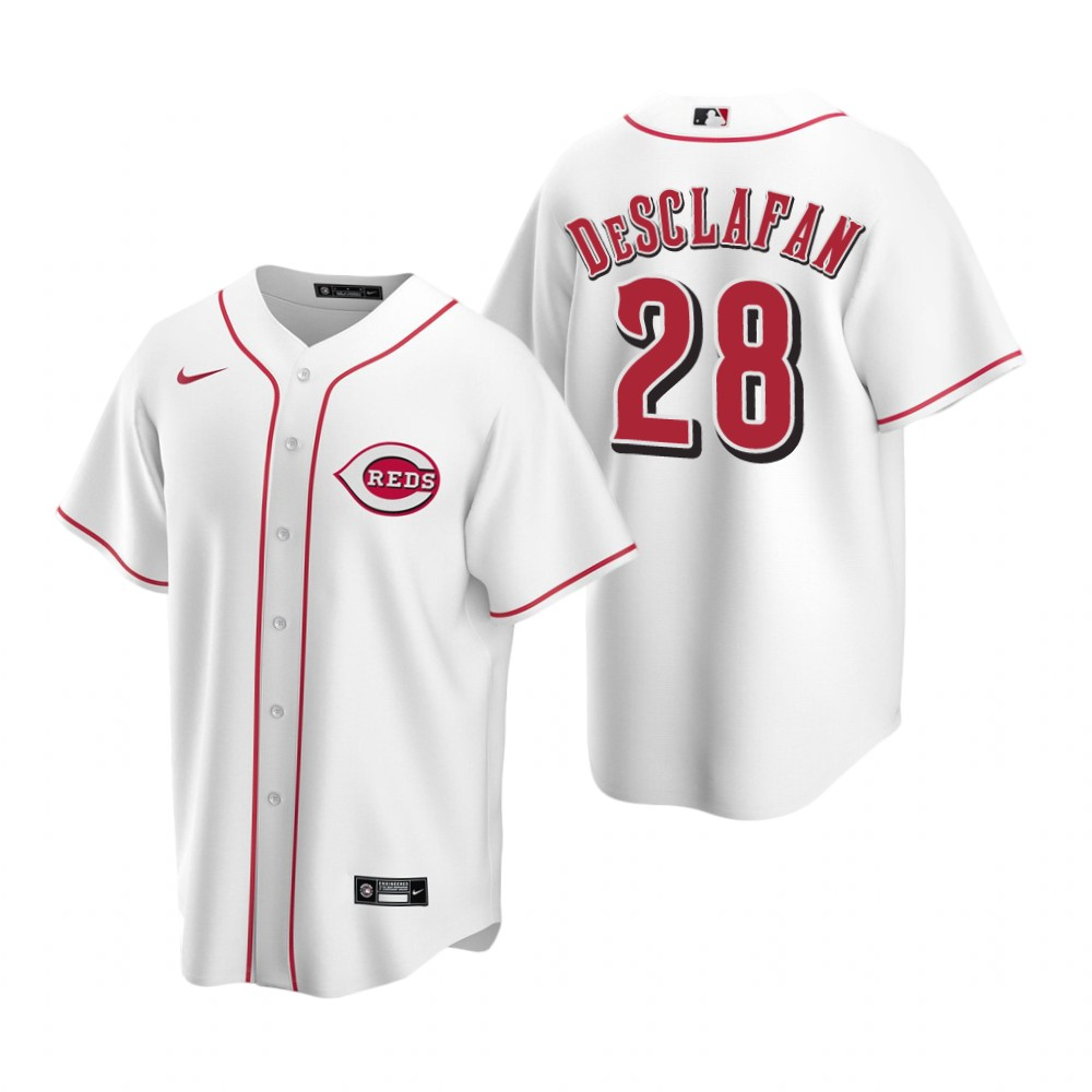 Men's Nike Cincinnati Reds #28 Anthony DeSclafani White Home Stitched Baseball Jersey