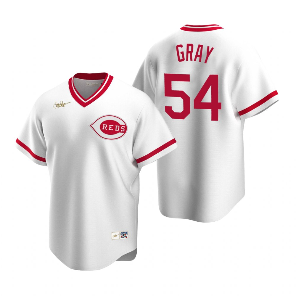 Men's Nike Cincinnati Reds #54 Sonny Gray White Cooperstown Collection Home Stitched Baseball Jersey