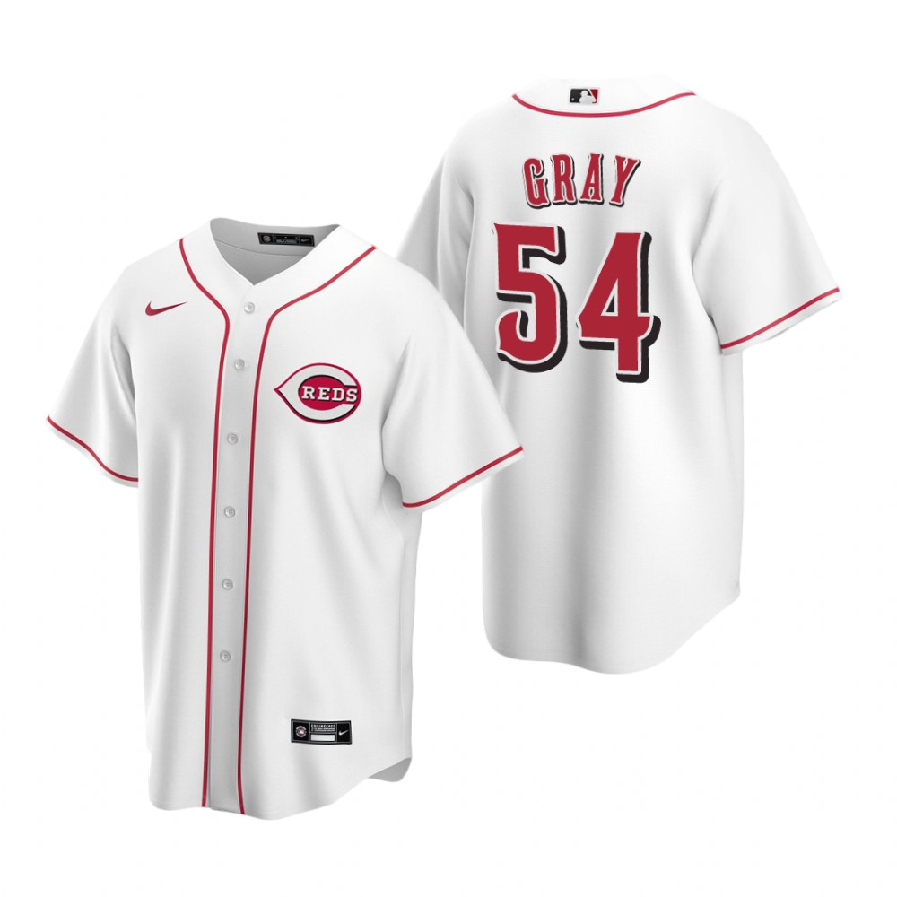 Men's Nike Cincinnati Reds #54 Sonny Gray White Home Stitched Baseball Jersey