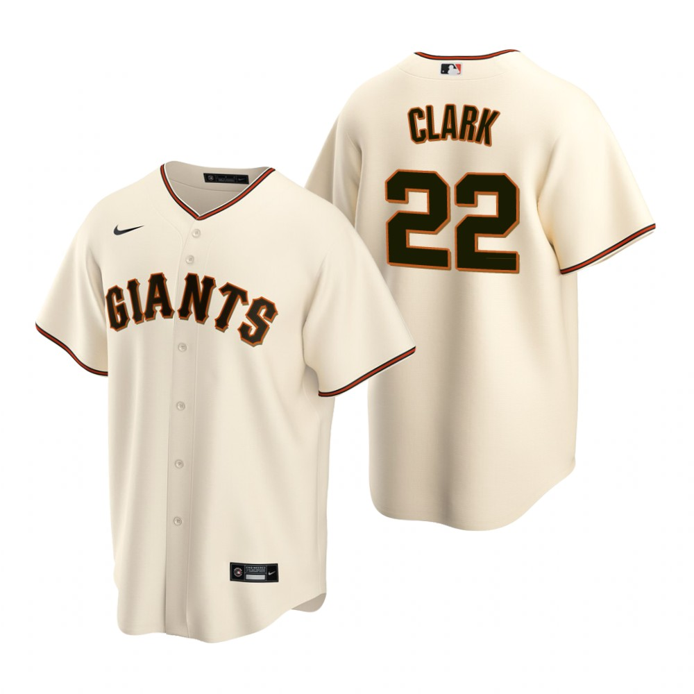 Men's Nike San Francisco Giants #22 Will Clark Cream Home Stitched Baseball Jersey