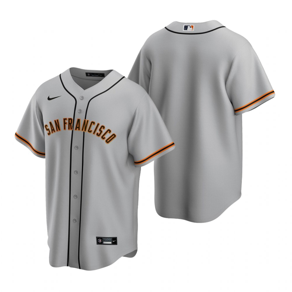 Men's Nike San Francisco Giants Blank Gray Road Stitched Baseball Jersey