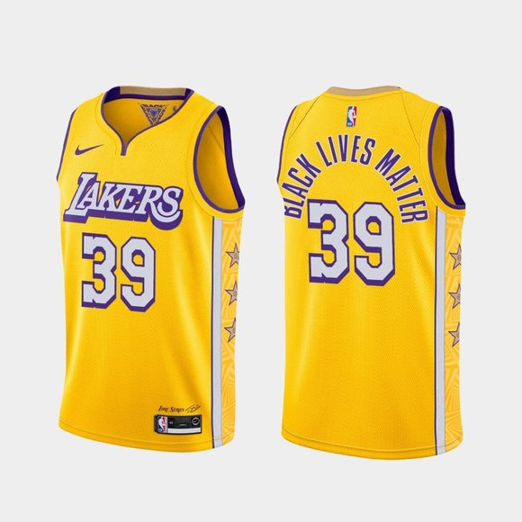 Los Angeles Lakers #39 Dwight Howard BLM Jersey City
