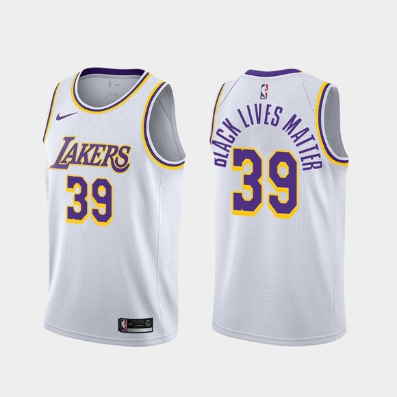 Los Angeles Lakers #39 Dwight Howard BLM Jersey White