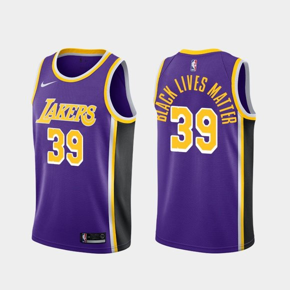 Los Angeles Lakers #39 Dwight Howard BLM Purple Jersey