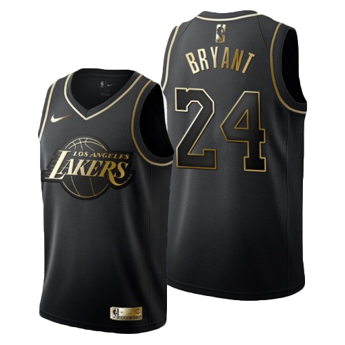 Los Angeles Lakers #24 Kobe Bryant Black Golden Edition Jersey