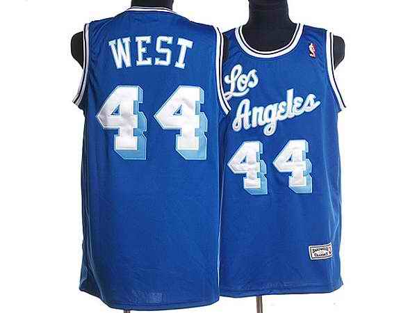 Mitchell and Ness Lakers #44 Jerry West Stitched Blue Throwback NBA Jersey