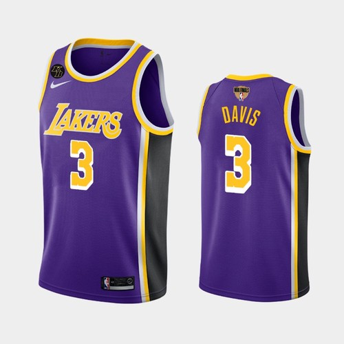 Men's Los Angeles Lakers #3 Anthony Davis Purple Kobe Forever 2020 Finals Jersey