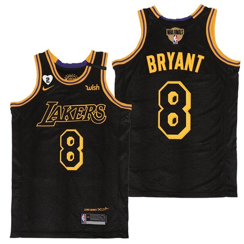 Men's Los Angeles Lakers #8 Kobe Bryant Black Mamba Gigi 2020 Finals Jersey
