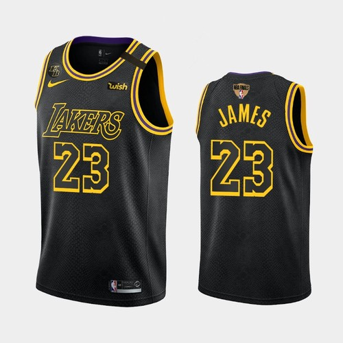 Men's Los Angeles Lakers #23 LeBron James Black Mamba City Kobe 2020 Finals Jersey