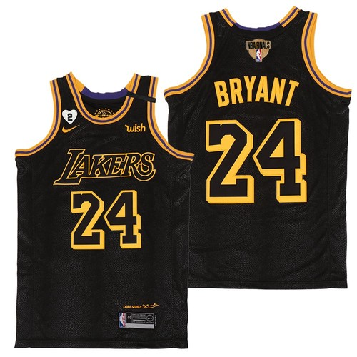 Men's Los Angeles Lakers #24 Kobe Bryant Black Mamba Gigi 2020 Finals Jersey