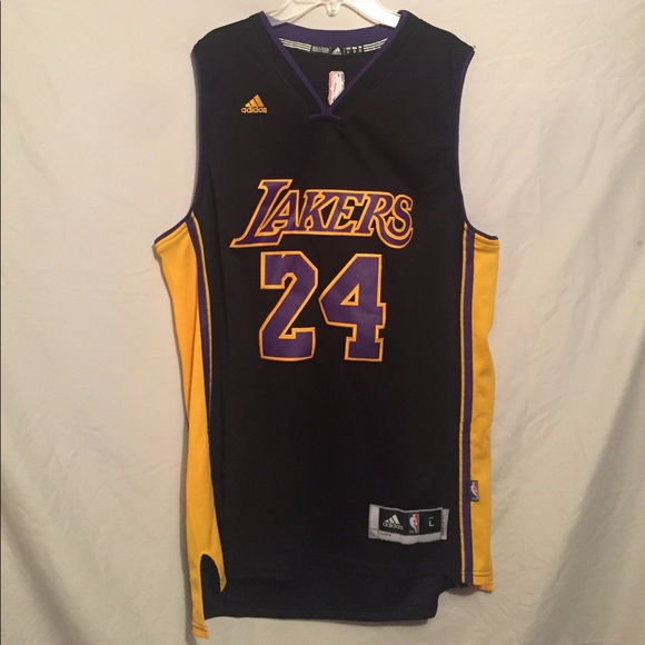 Men's Los Angeles Lakers Kobe Bryant #24 Black Jersey
