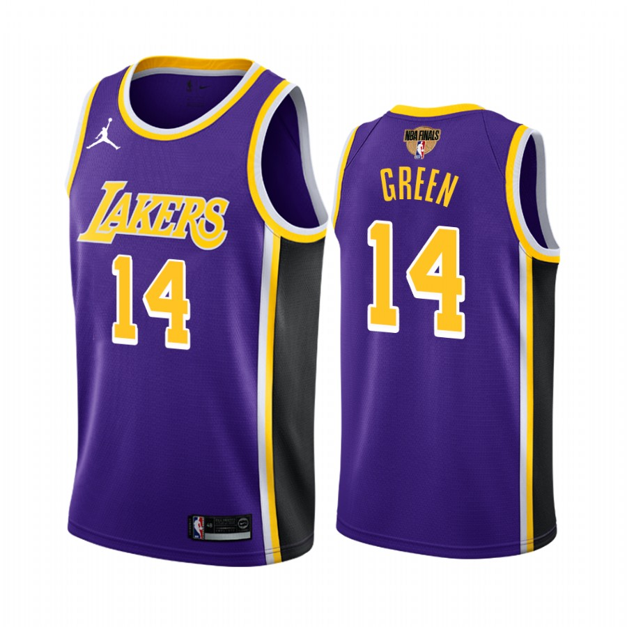 Men's Los Angeles Lakers #14 Danny Green 2020 NBA Finals Bound Purple Jersey Statement Edition