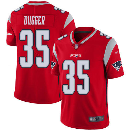 Youth New England Patriots #35 Kyle Dugger Red Stitched Limited Inverted Legend Jersey