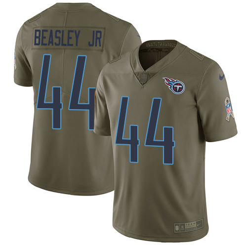 Youth Tennessee Titans #44 Vic Beasley Jr Olive Stitched Limited 2017 Salute To Service Jersey