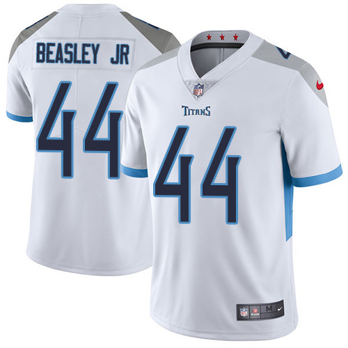 Youth Tennessee Titans #44 Vic Beasley Jr White Stitched Vapor Untouchable Limited Jersey