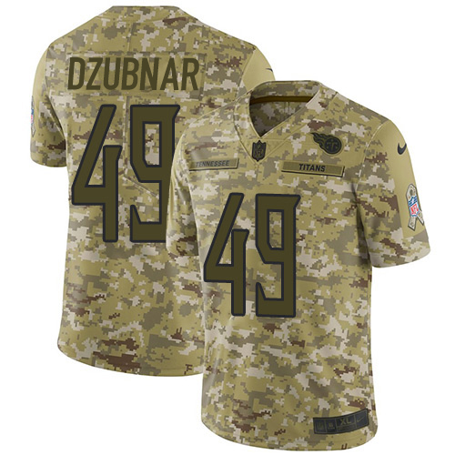 Youth Tennessee Titans #49 Nick Dzubnar Camo Stitched Limited 2018 Salute To Service Jersey
