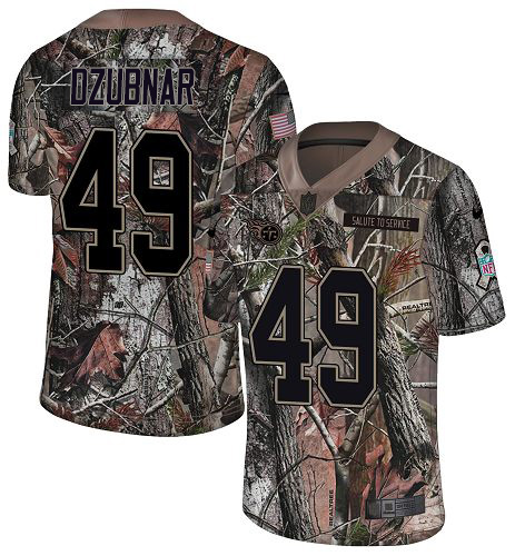 Youth Tennessee Titans #49 Nick Dzubnar Camo Stitched Limited Rush Realtree Jersey
