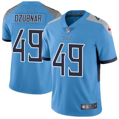 Youth Tennessee Titans #49 Nick Dzubnar Light Blue Alternate Stitched Vapor Untouchable Limited Jersey
