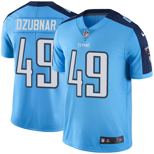 Youth Tennessee Titans #49 Nick Dzubnar Light Blue Stitched Limited Rush Jersey