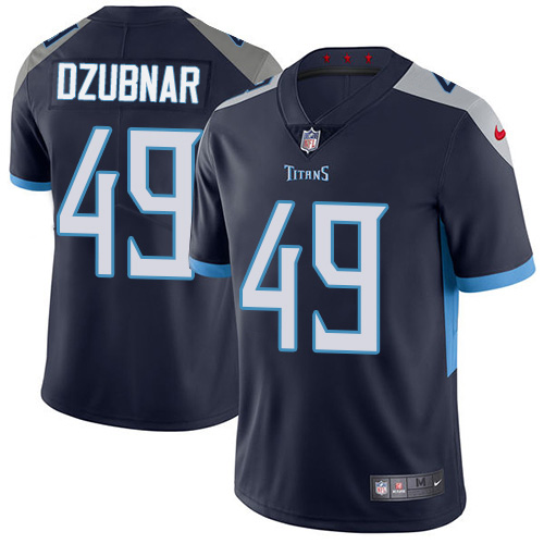 Youth Tennessee Titans #49 Nick Dzubnar Navy Blue Team Color Stitched Vapor Untouchable Limited Jersey
